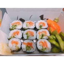 Bento Sushi Saumon, aneth, échalote & Nigiri saumon + Edamamé