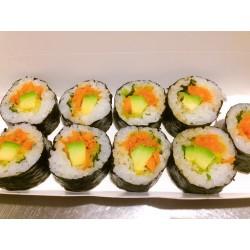 Sushis Makis 9 pièces légumes, carotte, avocat, salade, coriandre