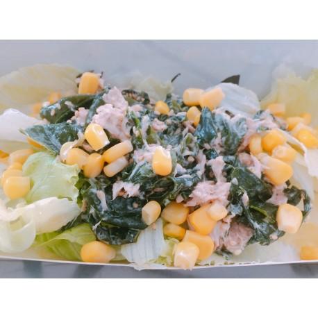 Salade Wakamé nature, Thon cuit, Maïs