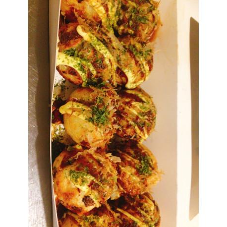 Takoyaki sans pieuvre ( légumes ) 10 pièces